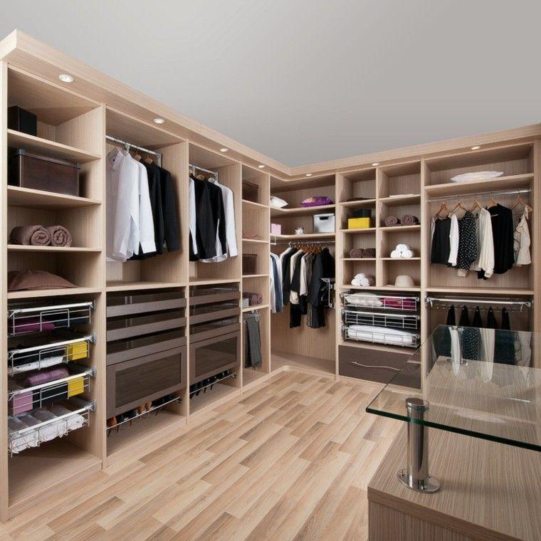 cuarto vestidor muebles madera laminada