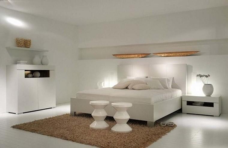 dormitorio blanco accesorios marrones