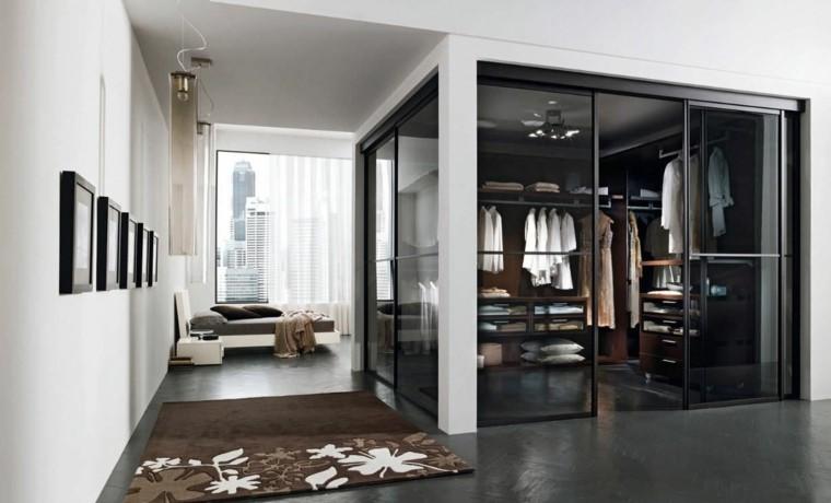 cuarto vestidor puertas vidrio