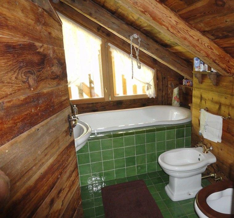 cuartos de baño rusticos pequeños madera
