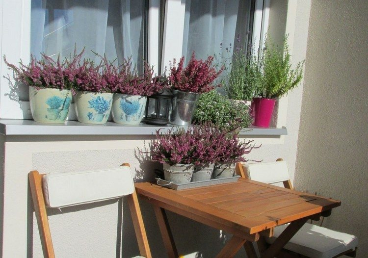 cubos macetas decorar balcon