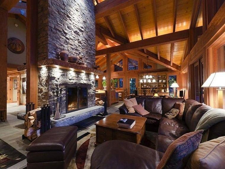 cuero ambiente elegante madera suelo calido