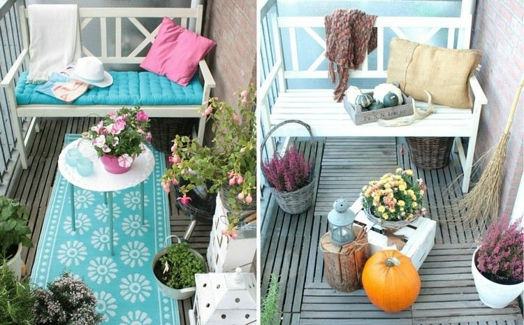 light blue balcony decoration