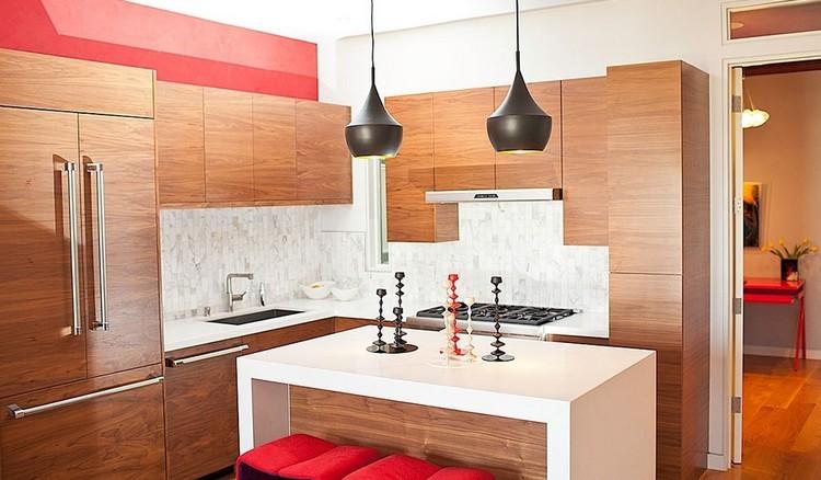 Decoracion de cocinas a todo color 78 ejemplos - Cocinas color rojo ...