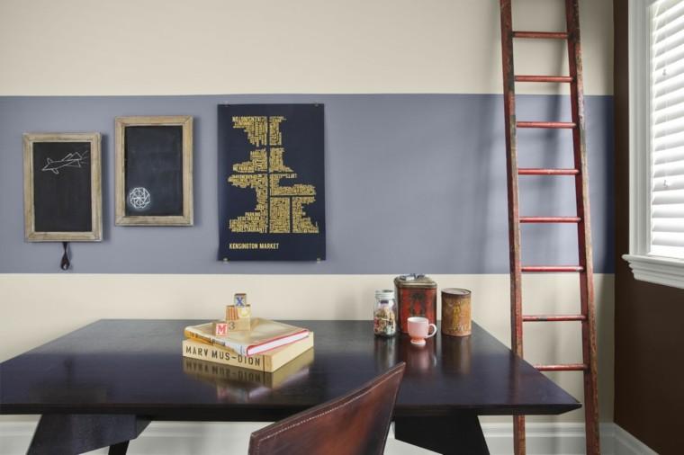 decoracion oficinas escalera madera
