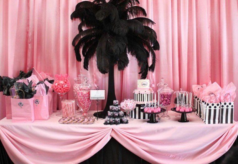 decoracion palmera color negro