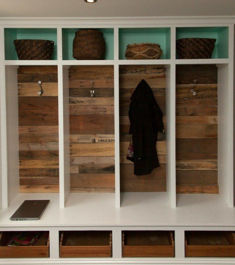 Cajas de madera usadas para fabricar muebles 75 ideas - Palet de madera decoracion ...