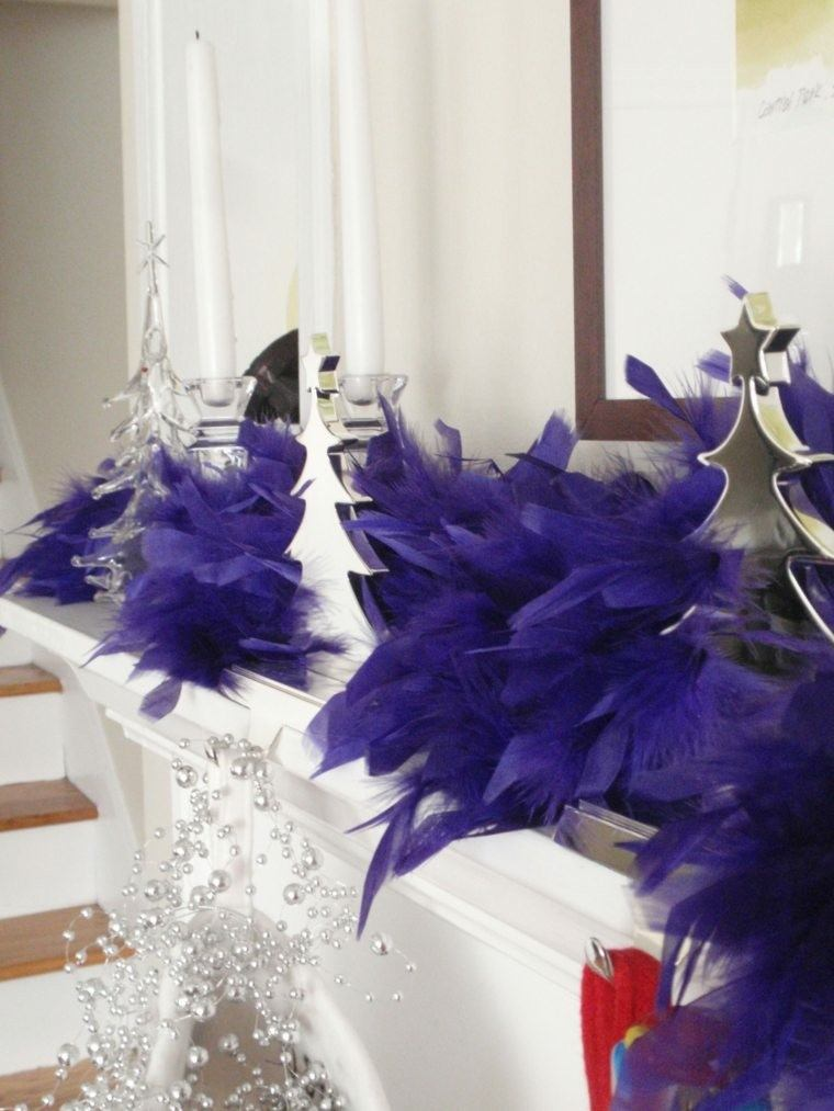deco boa salon color morado