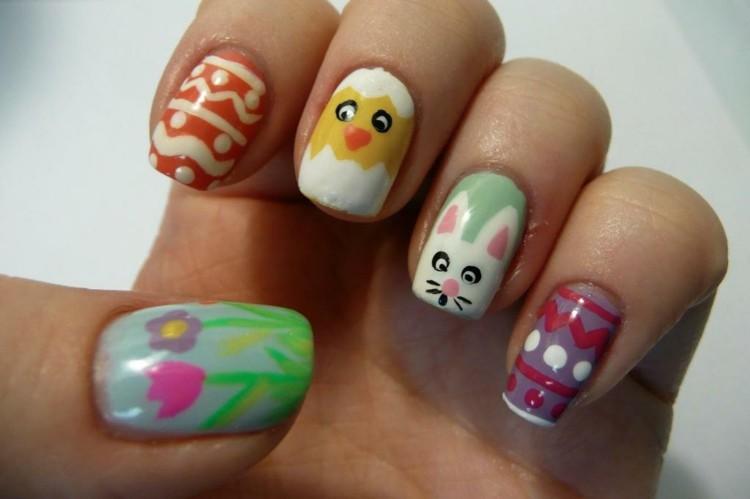 decoracion de uñas motivo pascua