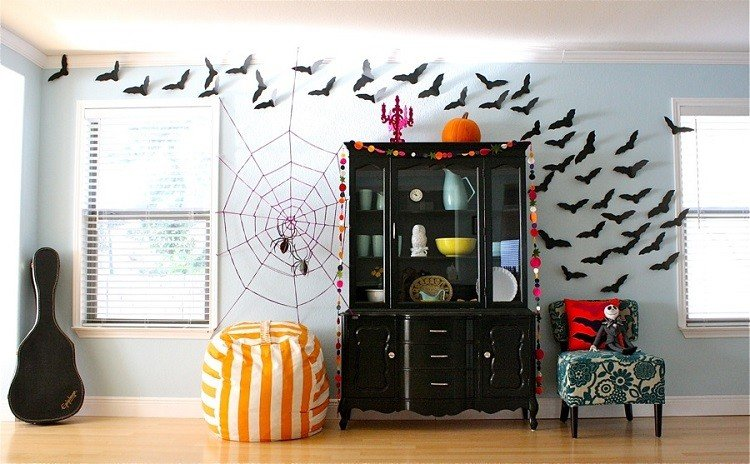 salon decorado fiesta halloween
