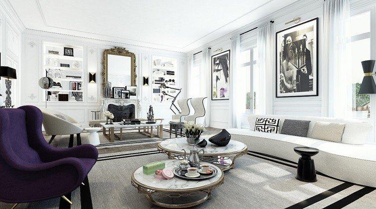decoracion apartamentos modernos Ando Studio mesitas preciosas salon ideas