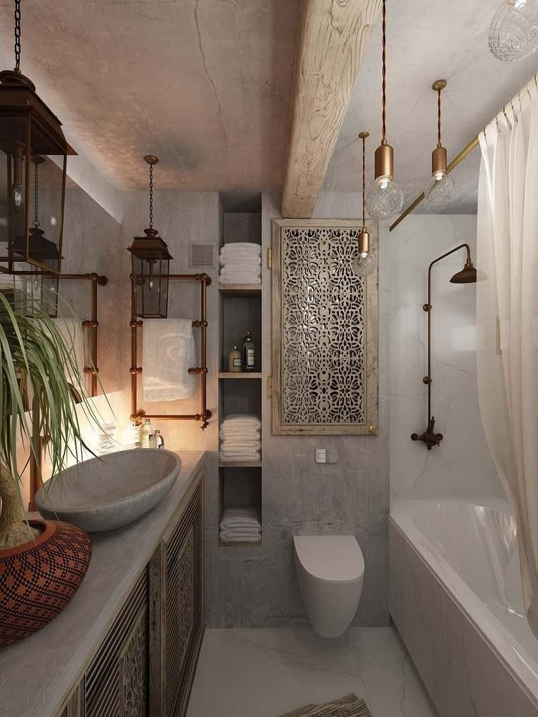 decoracion apartamentos modernos bano estilo maroqui ideas