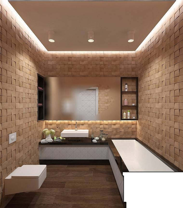 decoracion apartamentos modernos bano paredes preciosas ideas