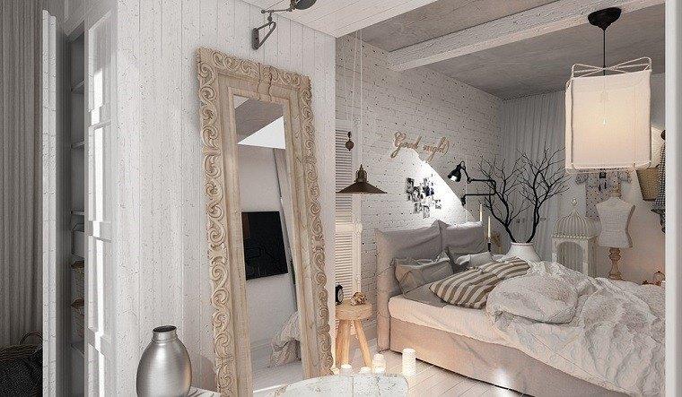 decoracion apartamentos modernos dormitorio espejo grande ideas