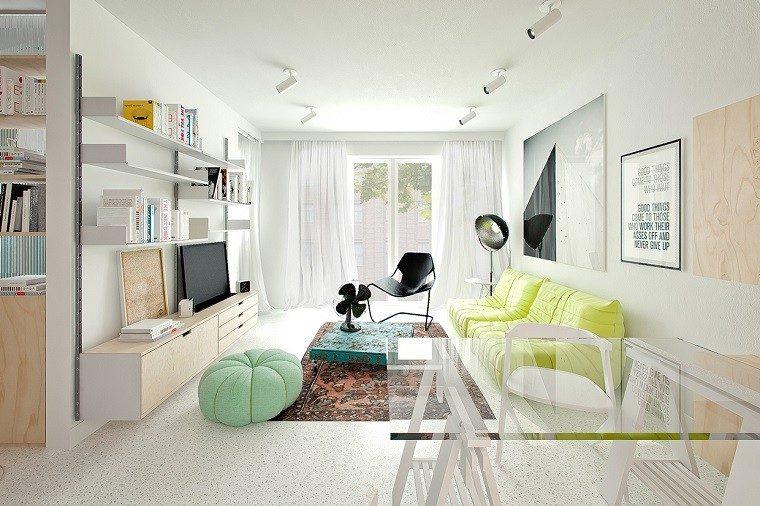 decoracion apartamentos modernos ottomana alfombra vintage ideas