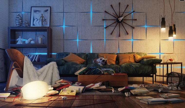 decoracion apartamentos modernos reloj precioso salon moderno ideas