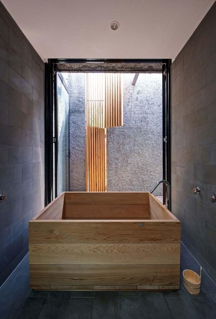 Decoracion de ba os 50 ideas que deslumbran - Bancos de madera para banos ...