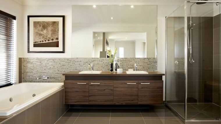 Small bathroom decor ideas - Decoracion Banos Modernos Cuadro Pared Jarron Pequeno Ideas