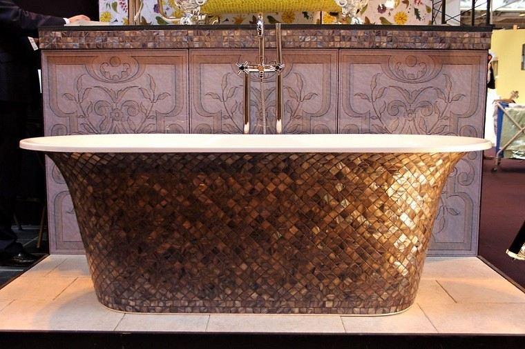 decoracion de baños banera lujo lavabo mosaico ideas