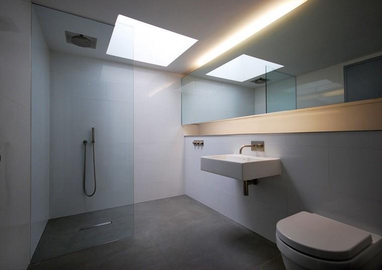 decoracion de baos estilo minimalista ducha espejo grande ideas with duchas grandes
