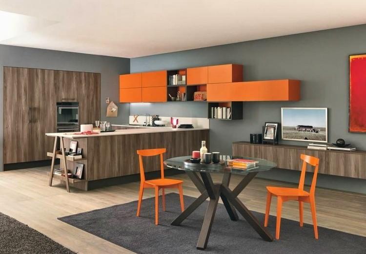 decoracion de cocinas tonos naranja
