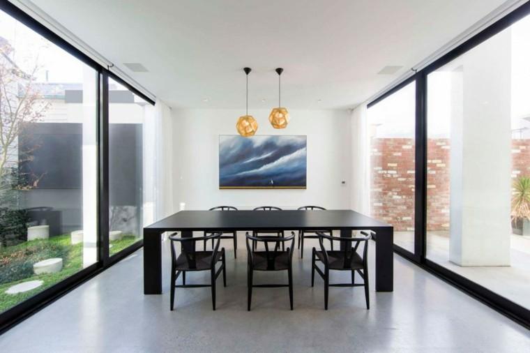 decoracion de comedores mesa negras sillas ideas