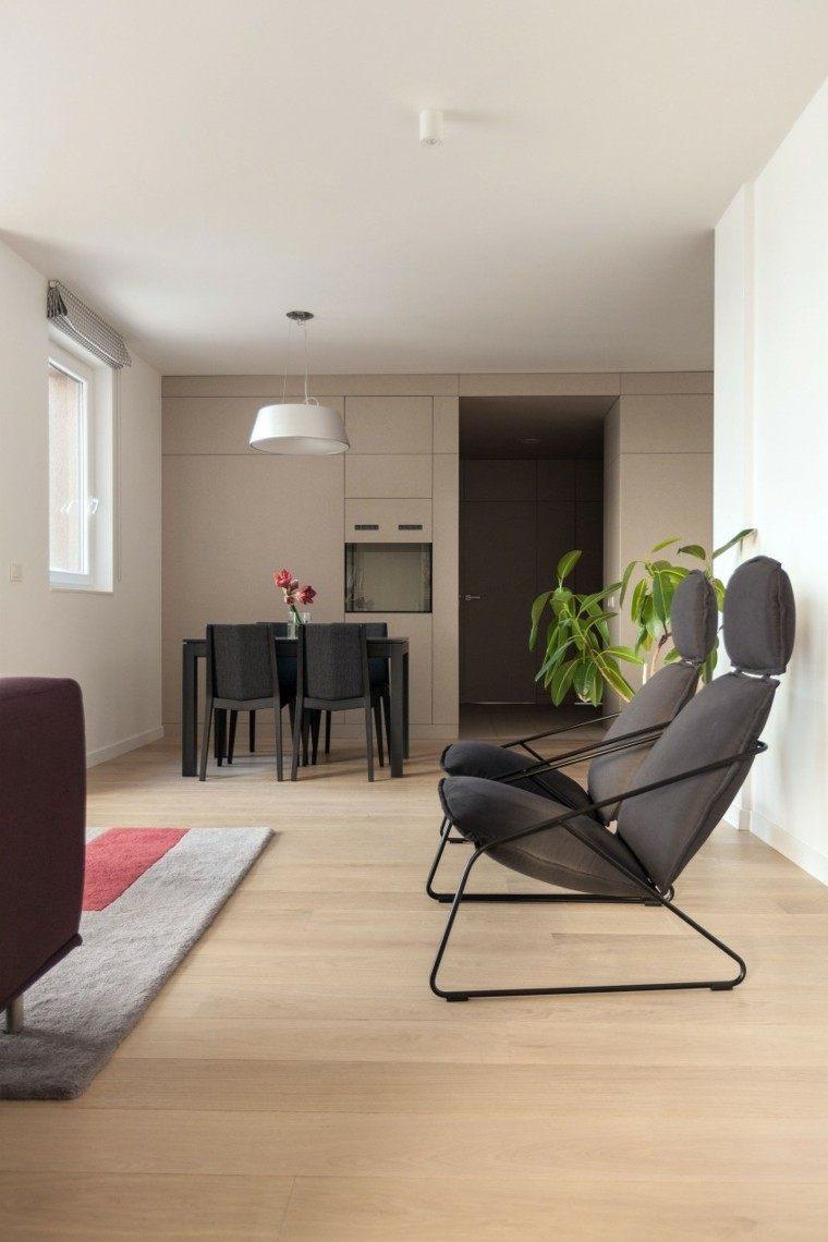 decoracion de comedores muebles negros modernos ideas