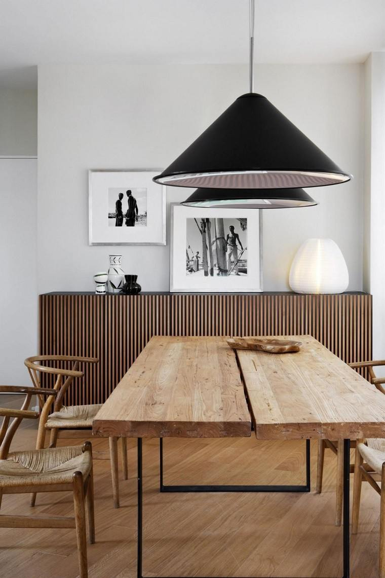 decoracion de cuartos mesa madera comedor fotos ideas