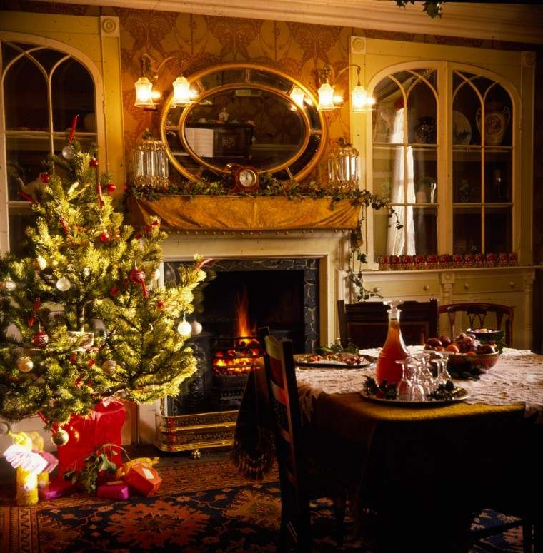 decoracion de navidad calido rojo arbol