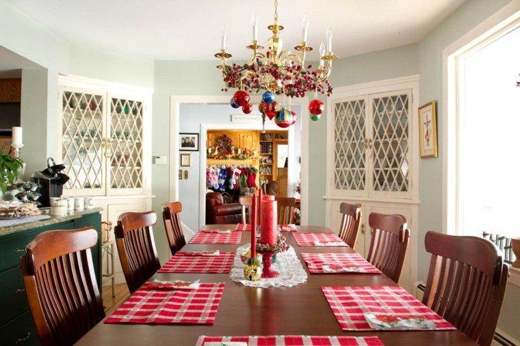 decoracion de navidad campo casa rojo