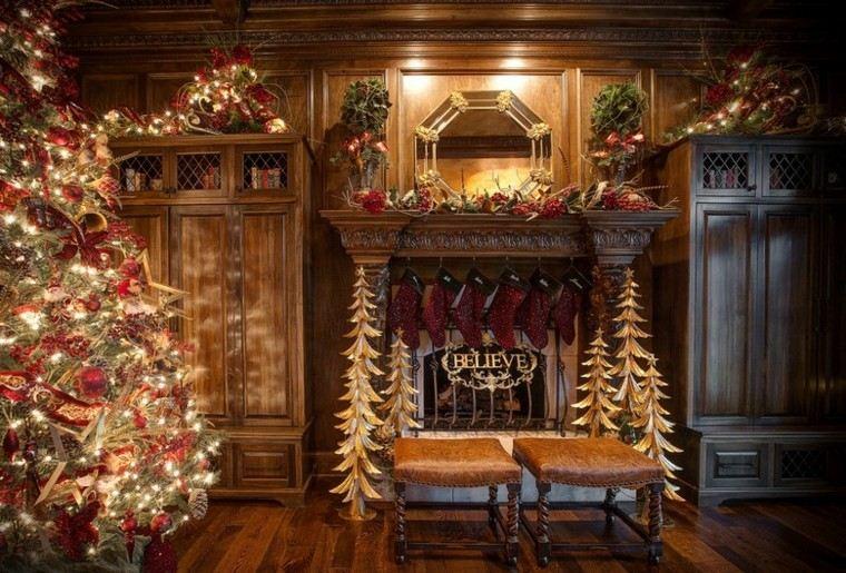 Decoracion de navidad 50 ideas al estilo americano - Decoracion de habitaciones en navidad ...