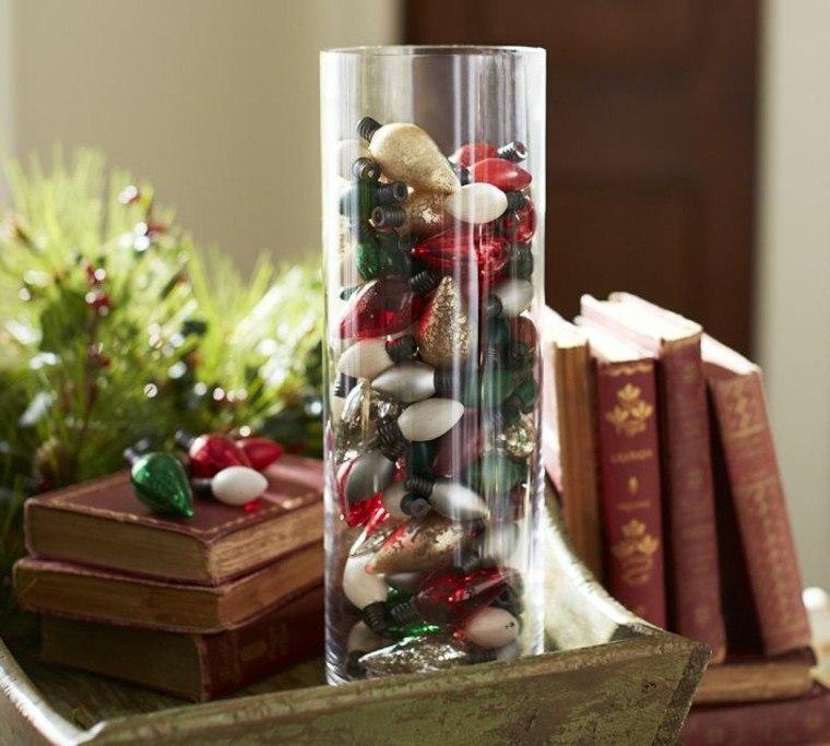 decoracion de navidad diy vaso cristal
