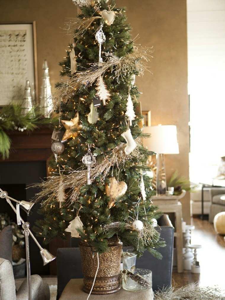 decoracion de navidad dorados adornos maceta