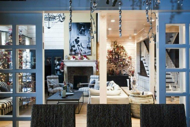 decoracion de navidad elegante azul dorados