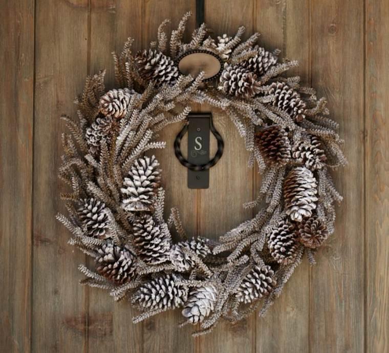 decoracion de navidad elegante pino hierro