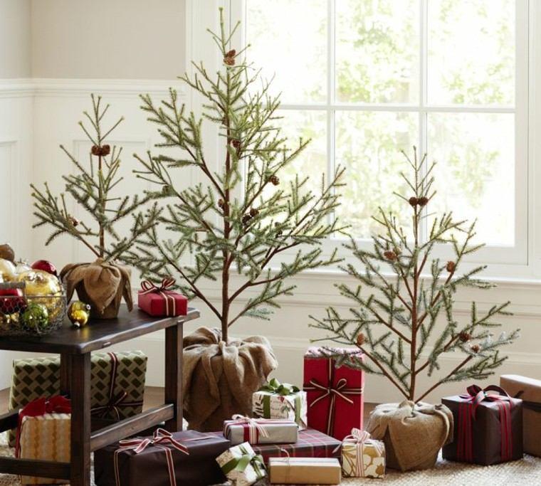 decoracion de navidad elegante regalos ramas