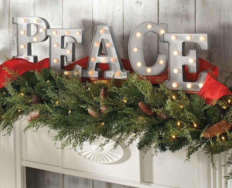 decoracion de navidad estilo americano arbol salon letras iluminadas ideas