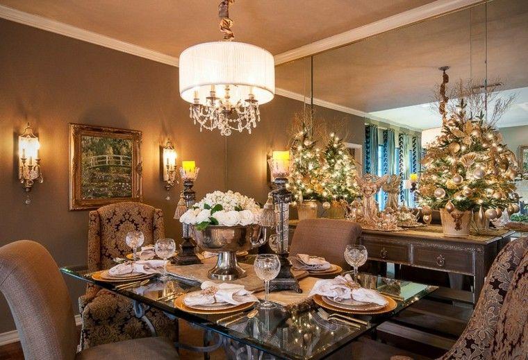 decoracion de navidad estilo americano arboles macetas ideas