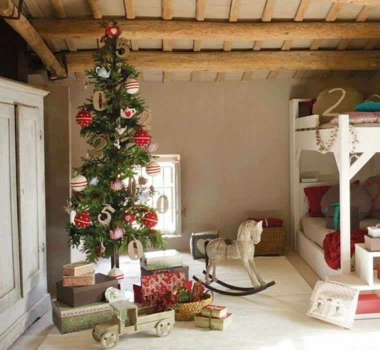 decoracion de navidad estilo americano habitacion nino arbol ideas