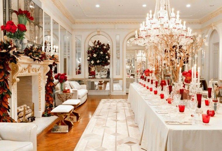 Decoracion de navidad 50 ideas al estilo americano - Mesa navidena ...
