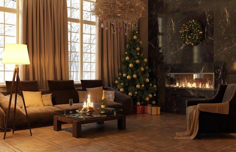 decoracion de navidad moderna marrones calido