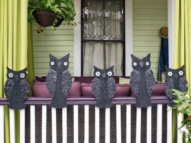 decoracion exteriores buho cortinas balcones