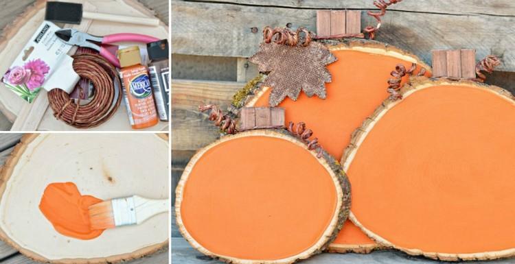 decoracion ideas diy mesas troncos herramientas naranja