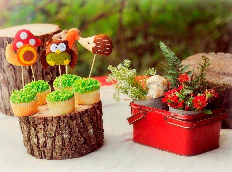 decoracion infantil diseño troncos erizos