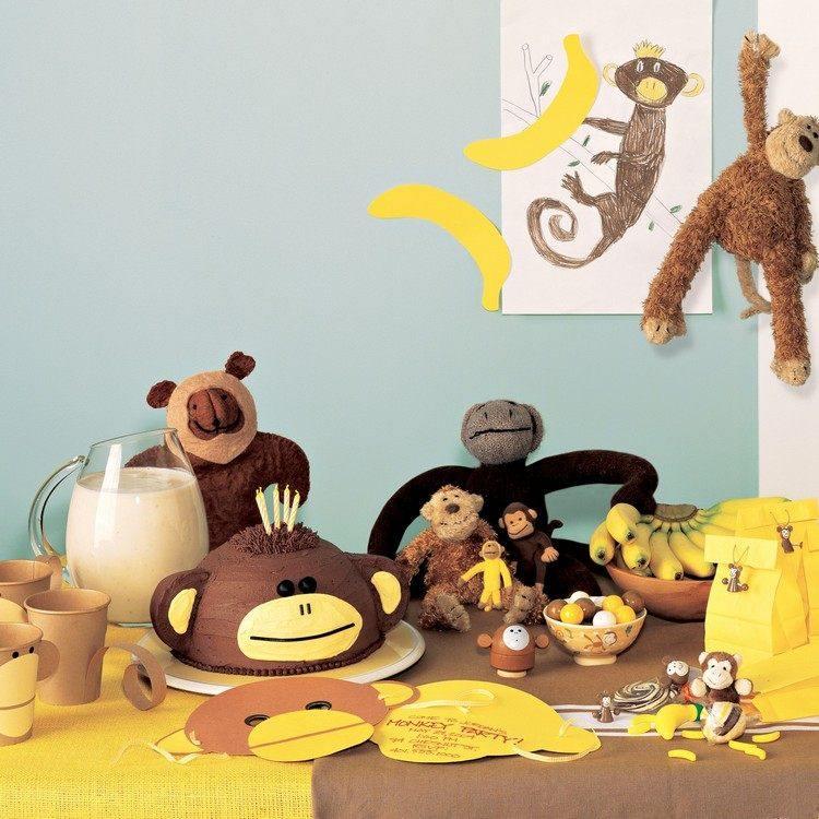 decoracion infantil diseño animales selva monos