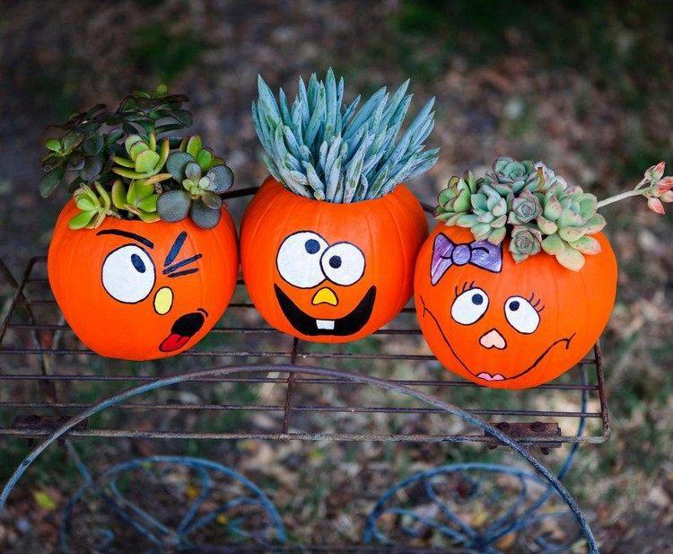 decoracion infantil diseño calabaza plantas naranja