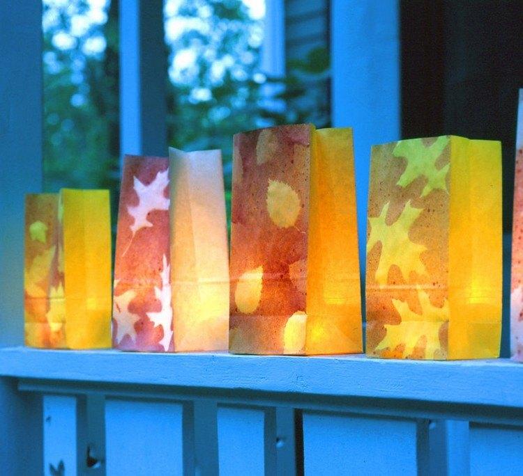 decoracion infantil diseño lamparas balcon velas