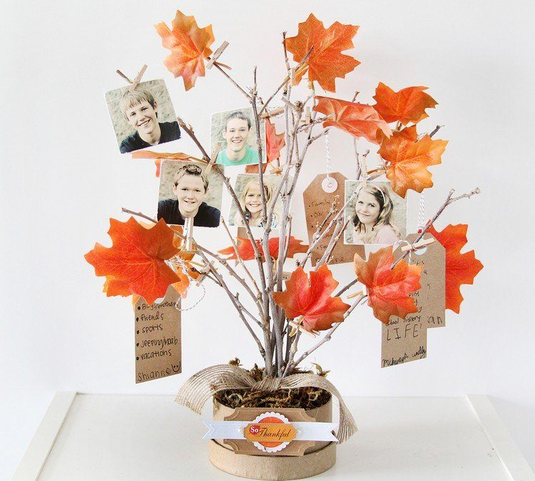 decoracion infantil diseño ramas naranja hojas