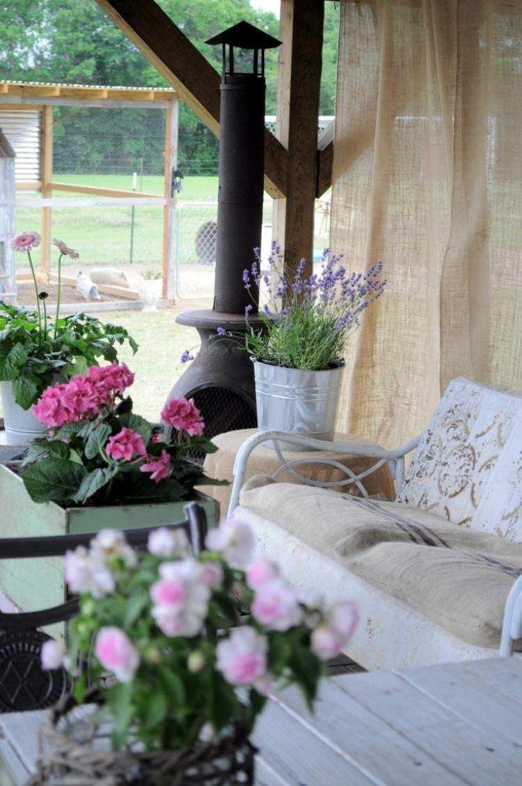 interior decoration pergola wood flowers
