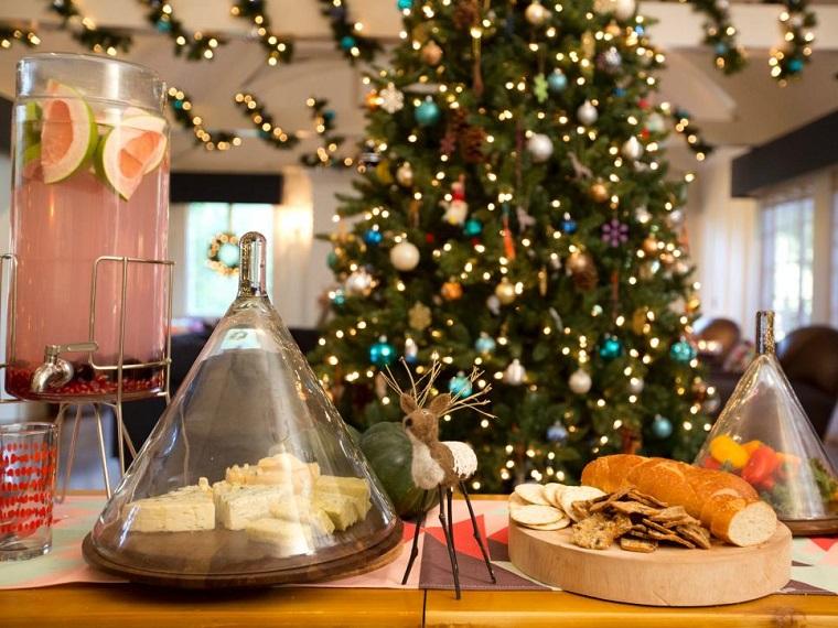 decoracion navidad detalles mesa navidad ciervo ideas